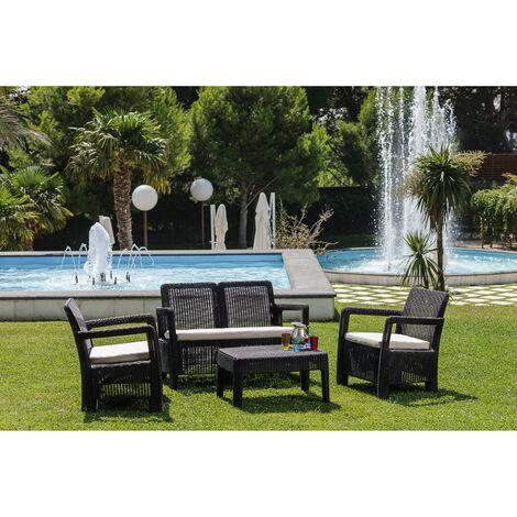 Set de sofá/sillones/mesa resina Tarifa