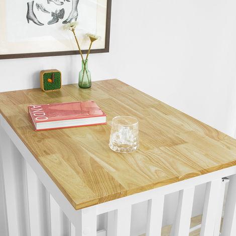 Set de Table + 2 Chaises Style de Bar Ensemble Table de Bar + 2 Tabourets,SoBuy FWT65-WN