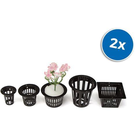 Set di 10 vasi a rete per coltivazione idroponica 4481 varie dimensioni e forme