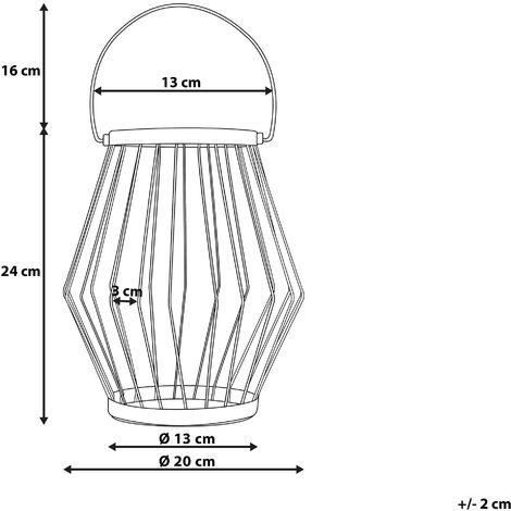 Set di 2 lanterne in ottone MAIORCA - 209218