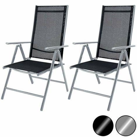 Sedie Sdraio Pieghevoli Alluminio.Set Di 2 O 4 Sedie Sdraio In Alluminio Con Schienale Alto