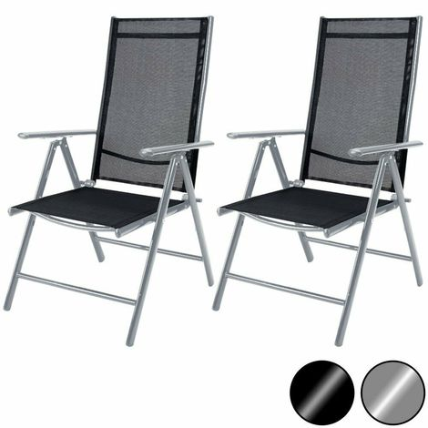 Sedia A Sdraio In Alluminio.Set Di 2 O 4 Sedie Sdraio In Alluminio Con Schienale Alto Pieghevole 2 Colori