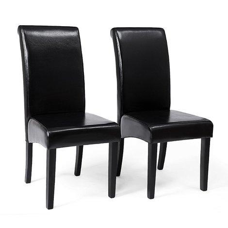 Set di 2 Sedie da Pranzo, Sgabelli per Cucina con Schienale
