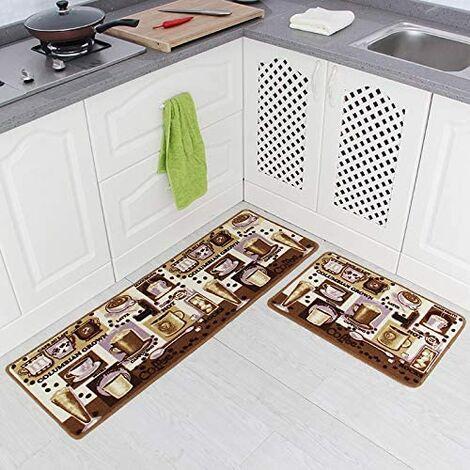 """main image of """"Set di 2 tappetini da cucina antiscivolo con retro in gomma"""""""