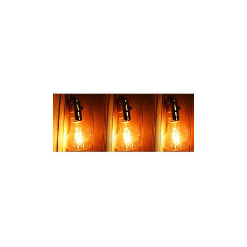 Set di 3 LED E27 4w stile vintage Edison R80