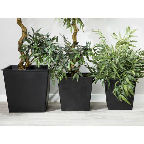 """main image of """"Set di 3 vasi quadrati per piante autoirriganti 30 x 30 cm"""""""