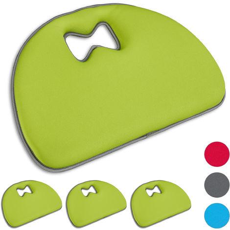 Set di 4 Poggia Ginocchia per Giardinaggio, Supporto per Ginocchia, Multiuso, con Manico, Poliestere, Verde Chiaro