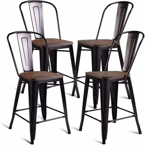 Set di 4 Sedie da Pranzo Sedie da Cucina Sedie da Soggiorno Sedile e Schienale, Sedie per Sala da Pranzo, Bronzo