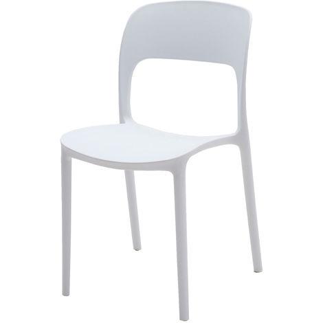 Set di 4 sedie impilabili in polipropilene