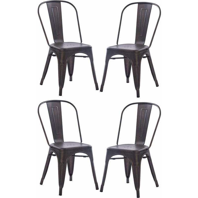 Set Di 4 Sedie Moderne Di Design In Metallo Grigio Joseph ...