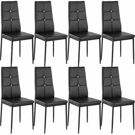 Set di 8 sedie per sala da pranzo Julien - sedie moderne ...