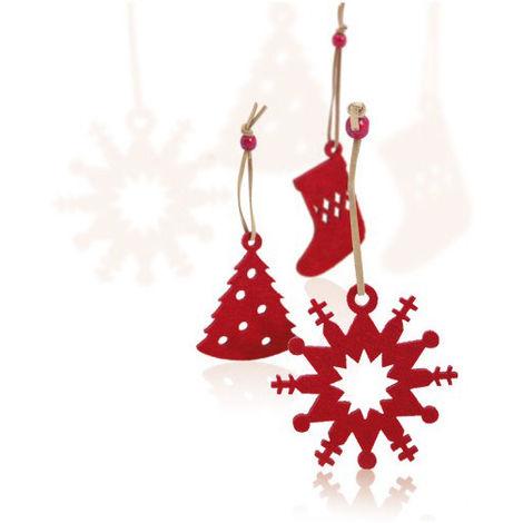 Addobbi Di Natale.Set Di Addobbi Di Natale 9 Pcs 143421 Rosso