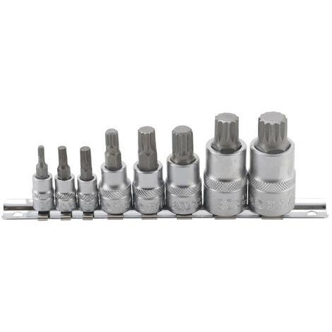 "main image of ""Set di bussole BGS TECHNIC per XZN - denti multipli M4/M16 - 8 pezzi - 5105"""