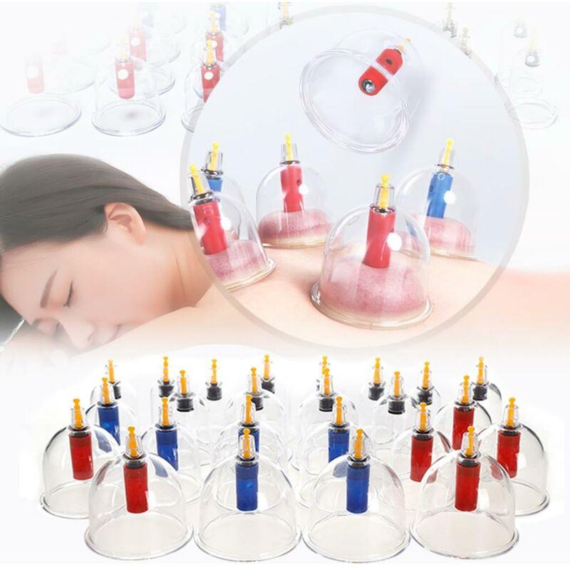 Set di coppette per massaggio sottovuoto con bicchieri di plastica