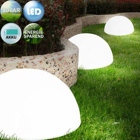 """main image of """"Set di luci solari LED rotonde da giardino 3 unità con sensore senza cablaggio"""""""
