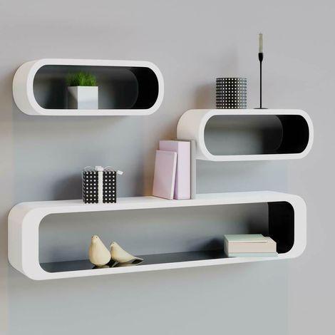 Mensole Librerie Moderne.Set Di Mensole Moderne Muro Libreria Scaffale A Parete Lucide Design Cube