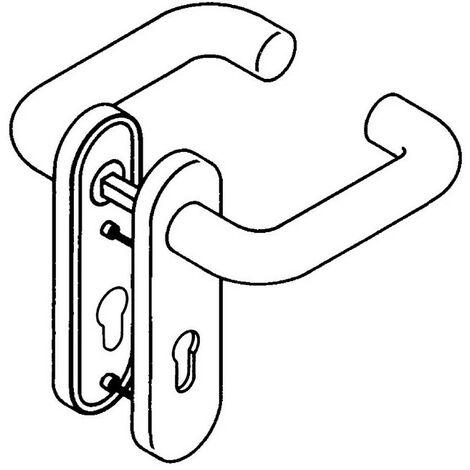 """main image of """"Set di piastre corte 111R01.110 99 Ku.99 Set di maniglie BB rd HEWI"""""""