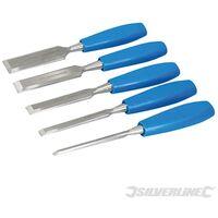 Set di scalpelli a legno 5 p.zi Silverline 5 p.zi