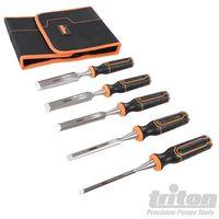 Set di scalpelli per legno 5 p.zi Triton TWCS5 6, 12, 19, 25 e 32 mm