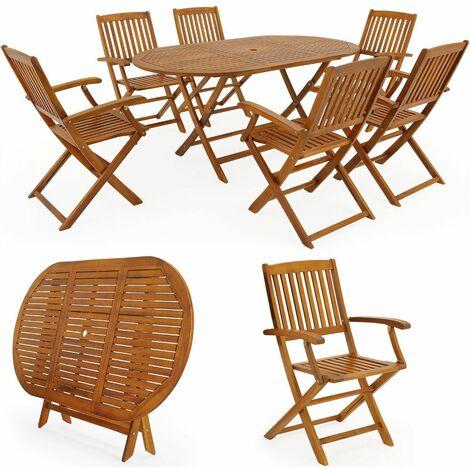 Set Tavolo E Sedie In Legno Da Giardino Al Miglior Prezzo