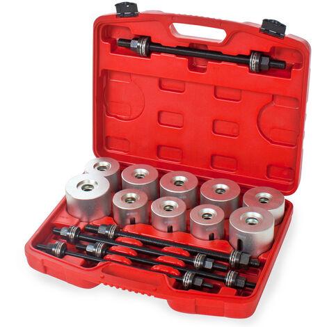 set di utensili per il montaggio e lo smontaggio, 27 pezzi - cassetta attrezzi completa - grigio