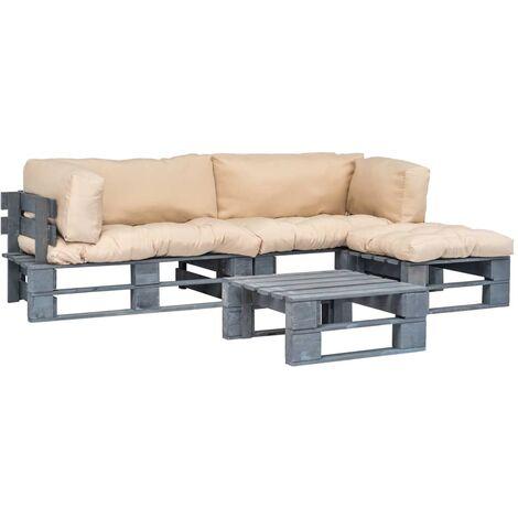 Set divani da giardino 4 pz pallet cuscini sabbia in legno for Sabbia da giardino