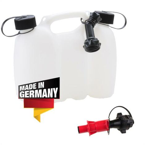 Doppelkanister Kombikanister Kanister 3L 1,5L Sichereitseinfüllsystem Ausgießer