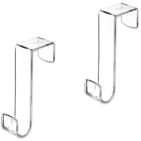 Appendiabiti Dietro Porta.Set Due Appendini Dietroporta In Pp Bianco