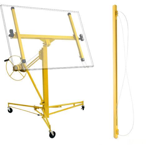 Set: Elevador paneles pladur ayuda montaje extensión Pro 140cm grúa montacargas extensión portátil