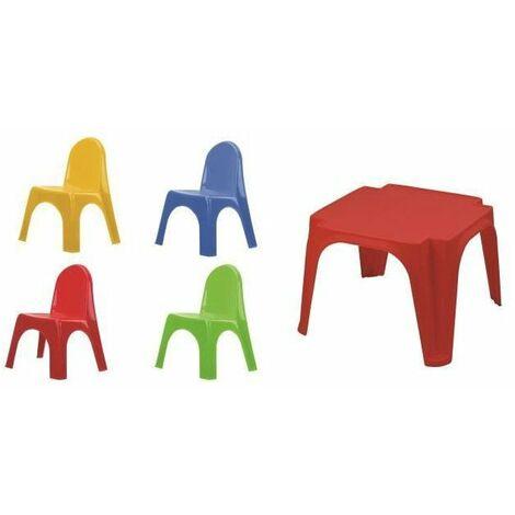 Set enfant Table + 4 Chaises Karen - Multicouleur