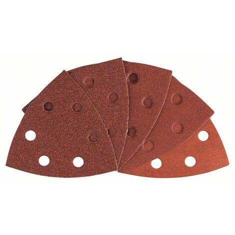 Set feuilles abrasives Delta avec bande auto-agrippante, perforé Bosch Accessories 2608607540 Grain 60, 80, 100, 120, 1