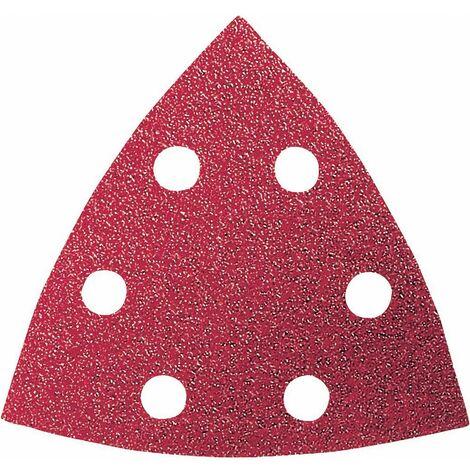 Set feuilles abrasives Delta perforé Bosch Accessories 2609256957 Grain 60, 80, 120, 180, 240 Cote dencoignure 93 mm 1