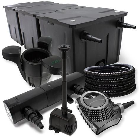 Set: Filtro de Estanque hasta 90000l Clarificador UV 18W Bomba Estanque Bomba Fuente Skimmer
