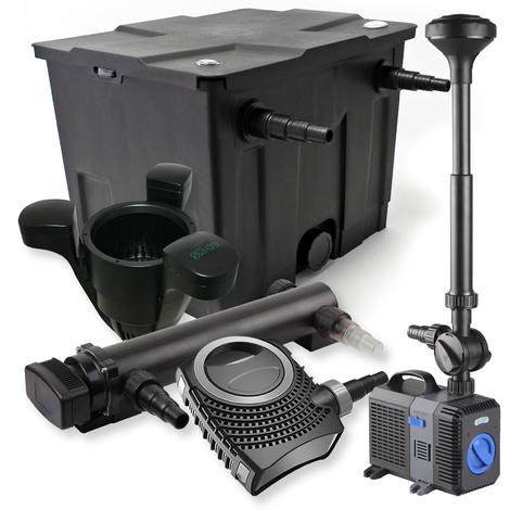 Set filtro estanques 12000l 36W UVC Clarificador NEO8000 70W Bomba Fuente Skimmer jardin