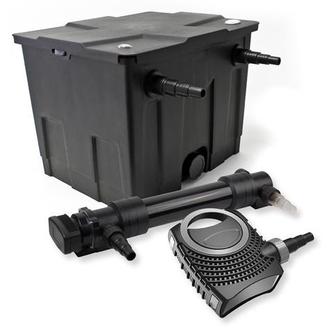 Set filtro estanques 12000l 36W UVC Clarificador NEO8000 70W Bomba jardin