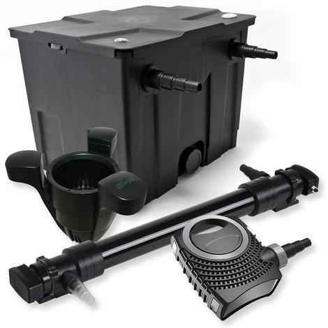 Set filtro estanques 12000l 72W UVC Clarificador NEO10000 80W Bomba Skimmer jardin