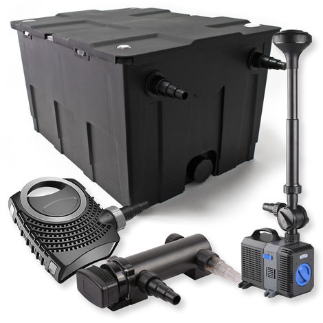 Set filtro estanques 60000l 18W UVC Clarificador NEO8000 70W Bomba Fuente