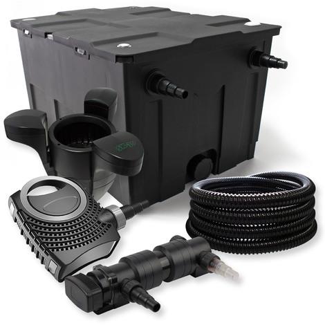 Set filtro estanques 60000l 18W UVC Clarificador NEO8000 70W Bomba Tubo Skimmer