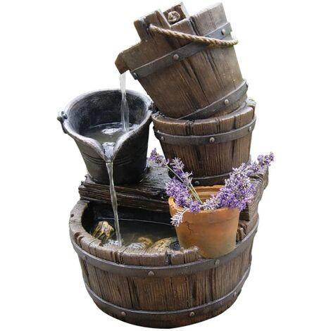 Set fuente de agua para jardín Ubbink Acqua Halifax 1387046