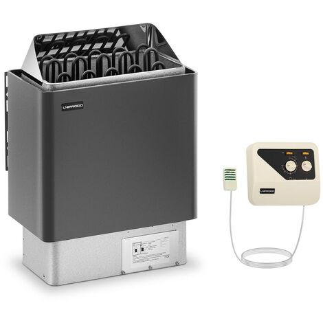 Set Horno De Sauna Con Panel Control Estufa Eléctrica Calentador 9 kW 400V 110°C