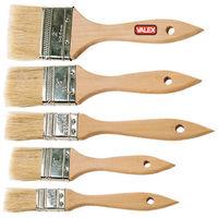 Set Kit di 5 Pennelli Pennello Piatto Assortiti Valex Misura 12 24 35 50 60mm