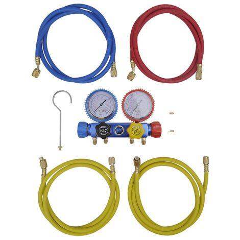 Set manifold 4 voies pour climatiseur