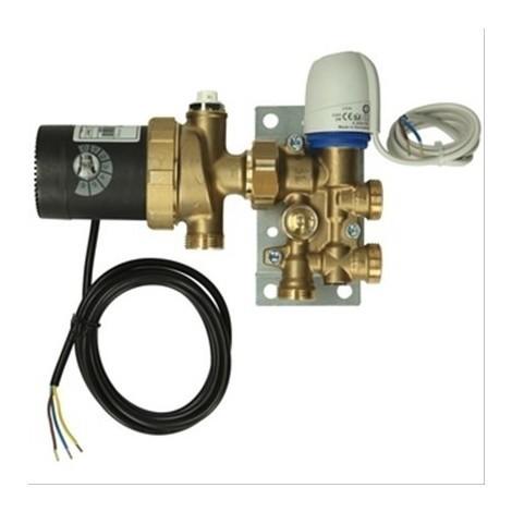 Set mélangeur avec régulateur de température pour raccordement de chauffage sol