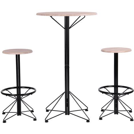 Set Mesa Alta de Bar y 2 taburetes Mesa de Comedor,(2 sillas ...