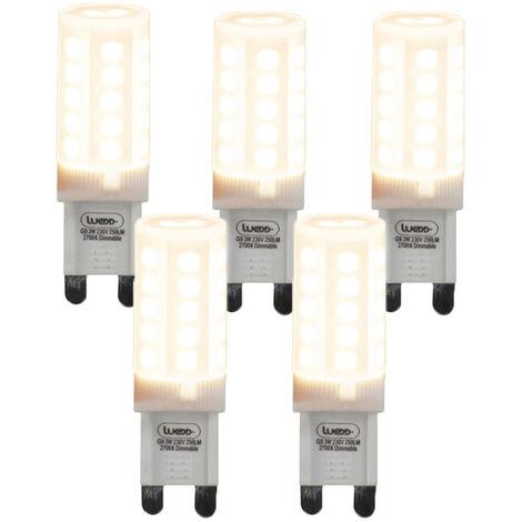 Set mit 5 dimmbaren G9-LED-Lampen 3W 280 lm 2700K