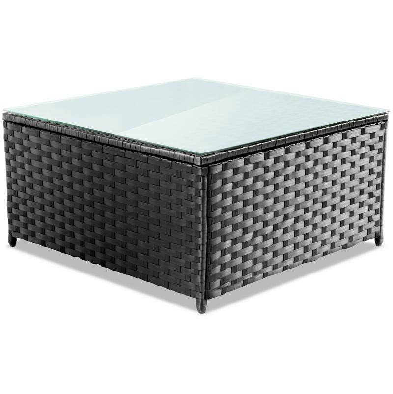 Set mobilier jardin terrasse MESSINA 4pc canapé ratan synthetique -McHaus