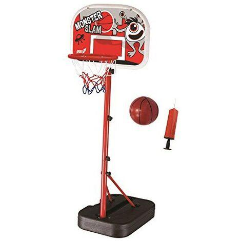db7867a97dc0 Set Monster Slam Piantana Pallone + Pompa Aria Canestro Basket Pallacanestro