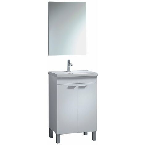 Set mueble lavabo 2p + espejo + Lavamanos CERÁMICA IberoDepot