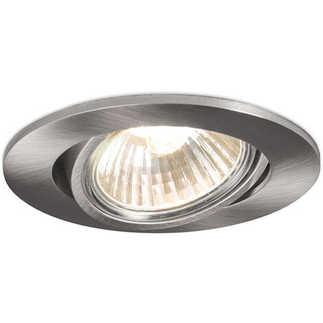 Set of 10 Recessed Spotlight Aluminium - Cisco
