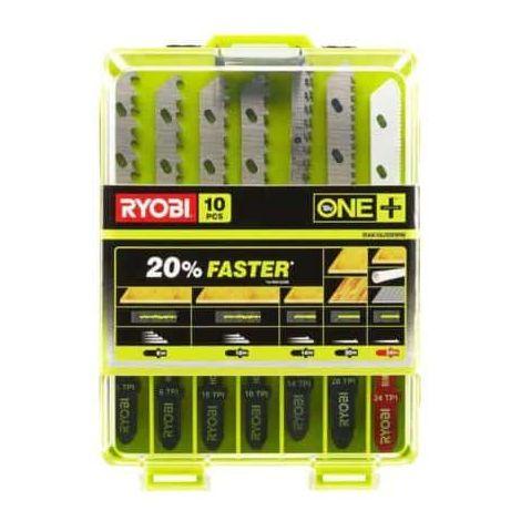 Set of 10 special blades for jigsaw RYOBI OnePlus RAK10JSBWM